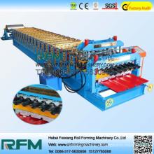 FX chapa metálica tejas de doble capa rollo de formación de la máquina