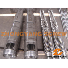 Tornillo cónico gemelo barril 65/132 Tornillo gemelo barril Zytc