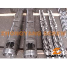 Twin Conical Screw Barrel 65/132 Twin Screw Barrel Zytc