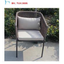 Chaise de jardin New Style avec coussin en tissu résistant à l'eau de 5 cm