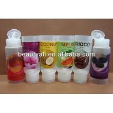 Rotulagem embalagem de plástico transparente tubos cosméticos