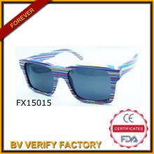 Красочные деревянные очки ручной работы квадратная рамка (FX150015)