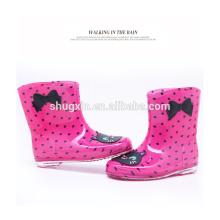 european style kids rain boots pvc rain boot