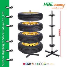 Estante de armazenamento de pneus de prateleira de exposição personalizada com 4 pneus