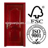 Made in china bedroom soundproof pvc wooden door
