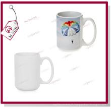 15oz blanc enrobé Mug Sublimation par Mejorsub