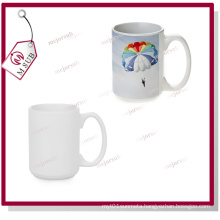 15oz White Coated Sublimation Mug by Mejorsub