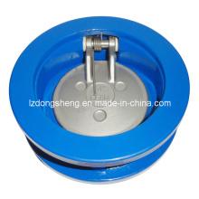 Válvula de retenção de balanço de disco único de wafer Class150, 300, 600