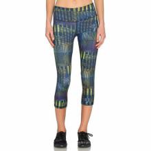 Leggings feitos sob encomenda da ginástica do esporte que imprimem calças da ioga das mulheres