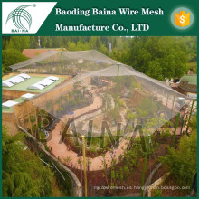 Malla de alambre de acero inoxidable para aviary bird fence cage wire mesh