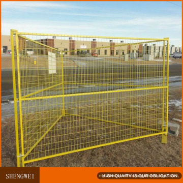 Yellow Portable Temporary Construction Fence for Building