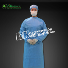 Disposable nonwoven fabric surgical gown