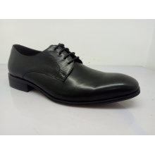 Classique Hommes Chaussures En Cuir Dentelle Noir (NX 545)