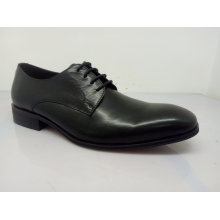 Classic Mens Lace Leather Shoes Black (NX 545)