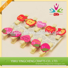 2014 new product decorative wood clip paper clip
