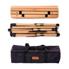 Wood Grain Camping Picnic Table Folding Lightweight