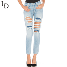 2017 new style high waisted slim women sexy jeans pants