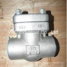 Válvula de retención Pistion de acero inoxidable con extremo de brida