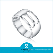 Rhodium Plated 925 Sterling Silver Plain 925 Ring (SH-R0167)