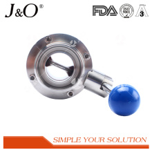 Hot Sale Sanitary Ss Pull Handle Welding Butterfly Valve