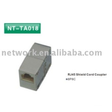 Acoplador de cable RJ45 Shield 8P8C