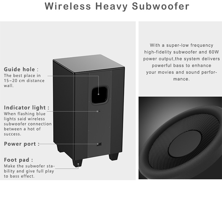 Wireless Speaker Subwoofer