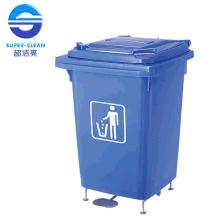 60L Foot-Pedal Plastic Garbage Bin