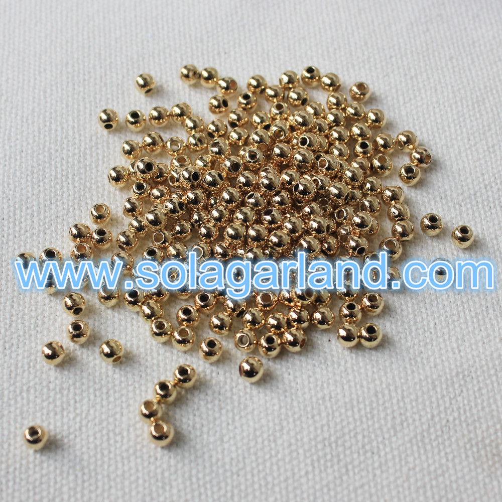 4MM Gold Beads