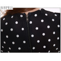 European and American Women′s Summer DOT Print Irregular Sexy Hollow Package Hip Skirt Long-Sleeved Jumpsuit Dress
