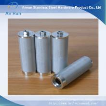 Alimentation en acier inoxydable Filtrage en mèche métallique fritté avec noix