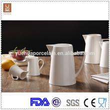 3pcs verschiedene Größe weißer keramischer Milchkrug