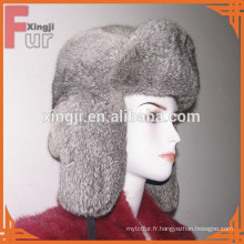 chapeau de lapin de fourrure de chinchilla