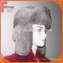натуральный серый цвет, полный шиншилла мех кролика шляпа