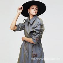 2021 New Casual Women Long Trench Coat