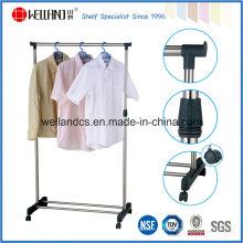Le magasin de vêtements en métal chromé extensible à usage unique et vendu le plus vendu (CJ-B1032)