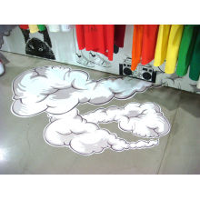 Kundenspezifische wasserdichte Vinylaufkleber des Boden-3