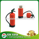 Promotion items fire extinguishers shape PVC usb memory stick with your own logo