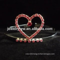 bridal hair accessories silver plating crystal heart headband