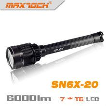 Maxtoch SN6X-20 Super brillante 6000 Lumen linterna LED fuerte