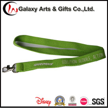 Custom Printed Logo Green Cotton Lanyard