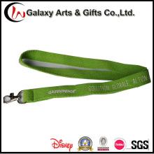 Fita impressa feita sob encomenda do algodão do verde do logotipo