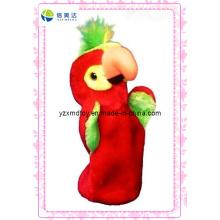 Fantoche vermelho da peluche do pássaro para a venda (XDT-0135)