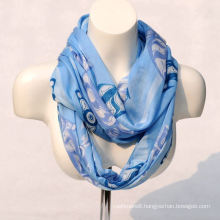 Women′s Bamboo Printing Spring Autumn Summer Woven Beach Cover Shawl Snood Loop Scarf (SW130)
