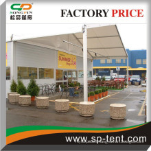Unti-tearing Waterproof PVC Porch canopy Shelters for sale 15m wide and 5m long
