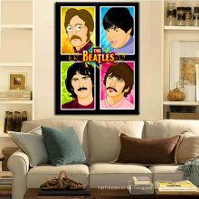 Cartel de la música de Beatles