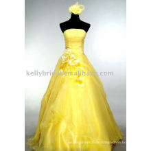 Art und Weise Gelbes Abschlussballkleid schwangere Frauen kleidet an