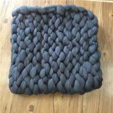 Knitted Wool Throw Large Cable Knit Throw