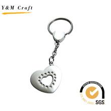Diseño especial en forma de corazón de metal Keyring (Y02226)