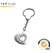 Special Design Heart Shape Metal Keyring (Y02226)