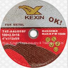 """4 """"disque de coupe de double filet collé par résine abrasive pour le métal"""